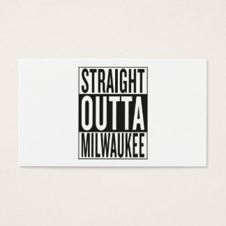 straight outta Milwaukee Business Card