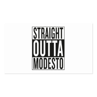 straight outta Modesto Business Card