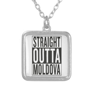 straight outta Moldova Silver Plated Necklace