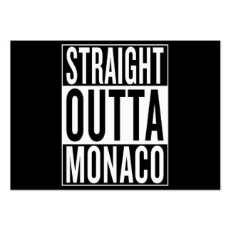 straight outta Monaco Large Business Card