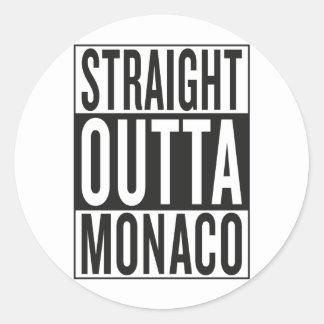 straight outta Monaco Round Sticker