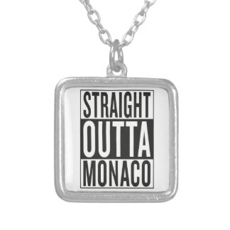 straight outta Monaco Silver Plated Necklace