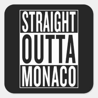 straight outta Monaco Square Sticker