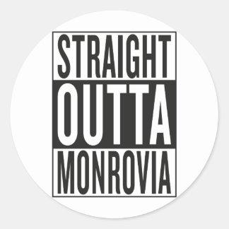 straight outta Monrovia Classic Round Sticker