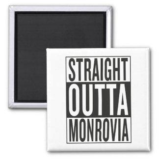 straight outta Monrovia Square Magnet