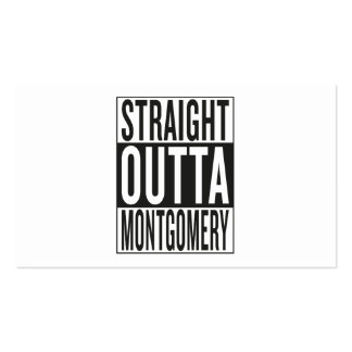 straight outta Montgomery Business Card