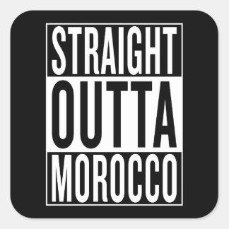 straight outta Morocco Square Sticker