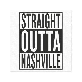 straight outta Nashville Canvas Print