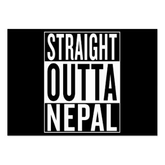 straight outta Nepal Large Business Card