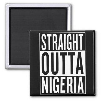 straight outta Nigeria Square Magnet