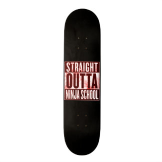 Straight Outta Ninja School Custom Pro Park Board Skateboard
