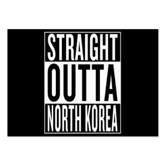straight outta North Korea Large Business Card