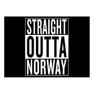 straight outta Norway Large Business Card