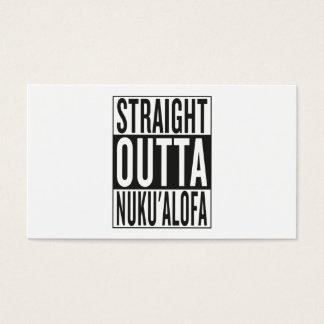 straight outta Nuku'alofa Business Card