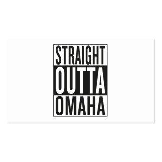 straight outta Omaha Business Card