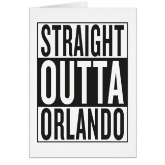 straight outta Orlando Card