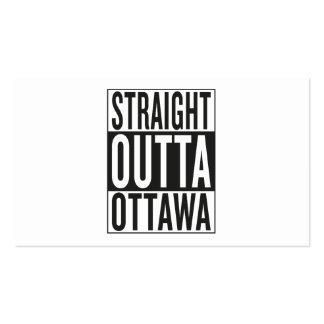 straight outta Ottawa Business Card
