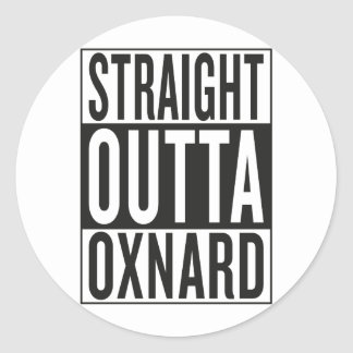 straight outta Oxnard Round Sticker