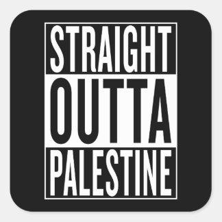 straight outta Palestine Square Sticker