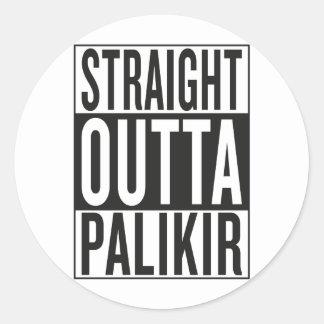 straight outta Palikir Classic Round Sticker