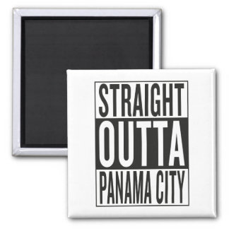 straight outta Panama City Square Magnet