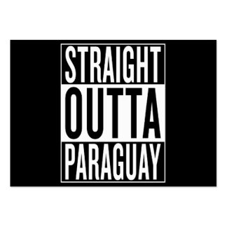 straight outta Paraguay Large Business Card