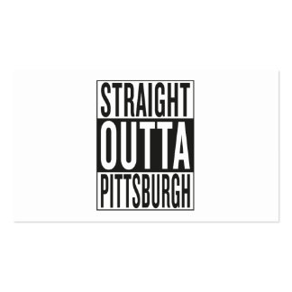 straight outta Pittsburgh Business Card