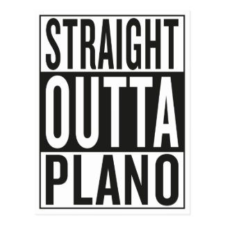 straight outta Plano Postcard