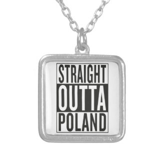straight outta Poland Silver Plated Necklace