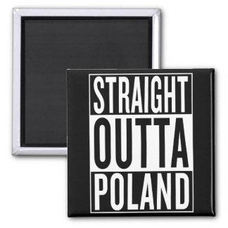 straight outta Poland Square Magnet