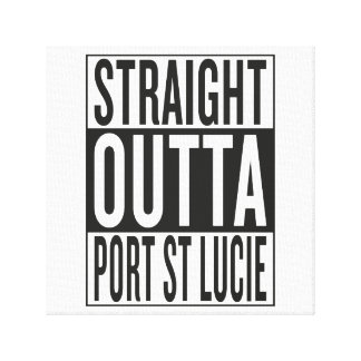 straight outta Port St Lucie Canvas Print