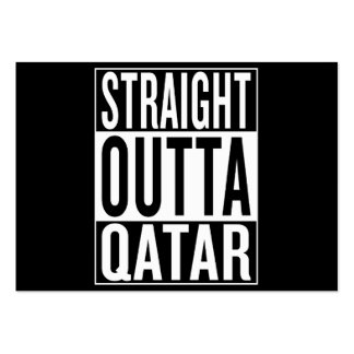 straight outta Qatar Large Business Card
