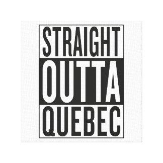straight outta Quebec Canvas Print
