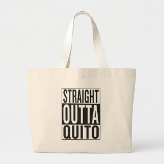 straight outta Quito Large Tote Bag