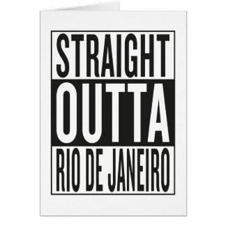straight outta Rio de Janeiro Card