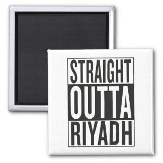 straight outta Riyadh Square Magnet