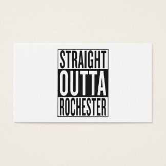 straight outta Rochester Business Card