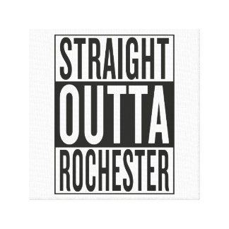 straight outta Rochester Canvas Print