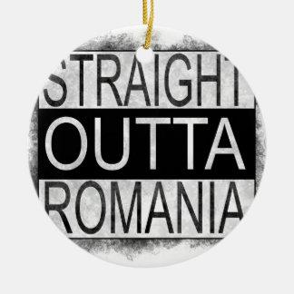 Straight Outta Romania Ceramic Ornament