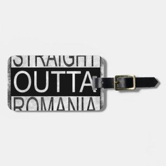 Straight Outta Romania Luggage Tag