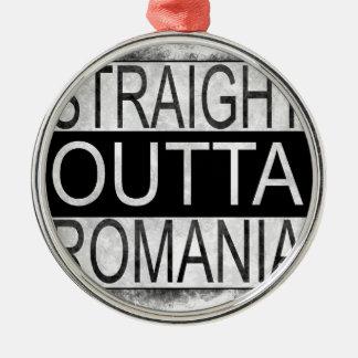 Straight Outta Romania Metal Ornament