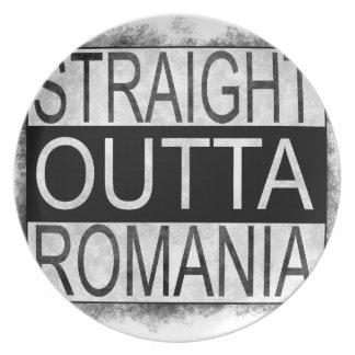 Straight Outta Romania Plate