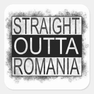 Straight Outta Romania Square Sticker