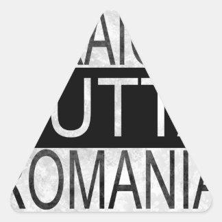 Straight Outta Romania Triangle Sticker