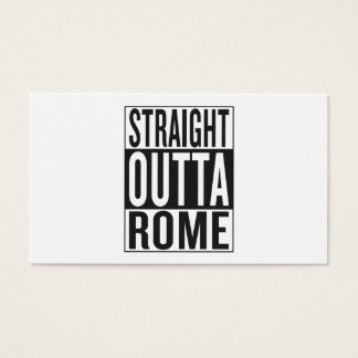 straight outta Rome Business Card