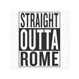straight outta Rome Canvas Print