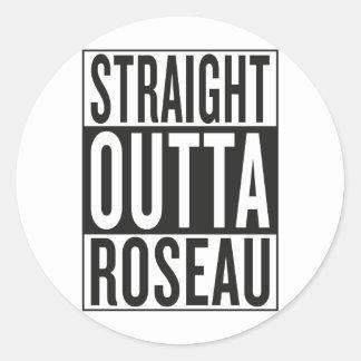 straight outta Roseau Classic Round Sticker