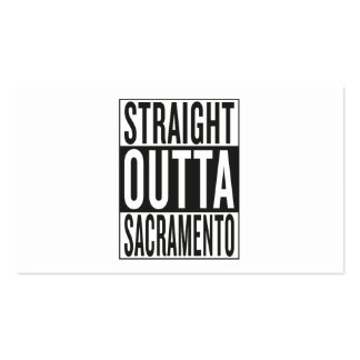 straight outta Sacramento Business Card