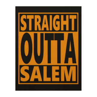 Straight Outta Salem Halloween Fanatic Wood Print