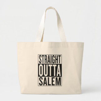 straight outta Salem Large Tote Bag